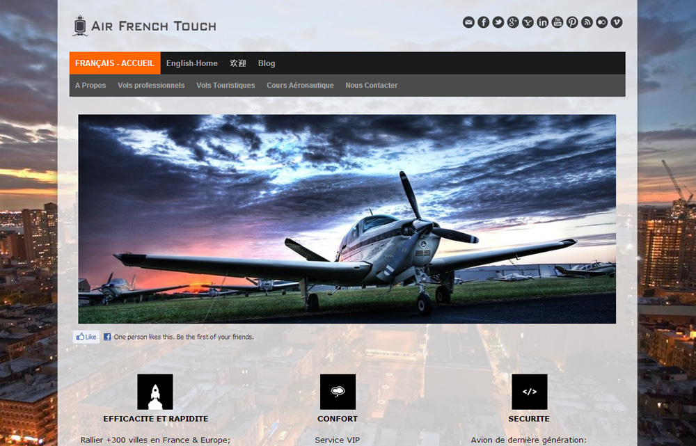 Air French Touch Premium Jimdo Templates And Jimdo Layouts